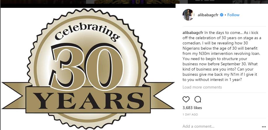 Alibaba celebrating 30 years on stage