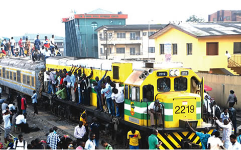 Image: Illegal passengers on train